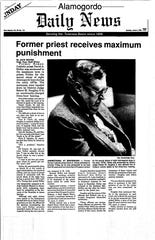 Alamogordo Daily News coverage of Fr. David Holley's conviction in 1993. Holley was convicted of child sexual penetration.