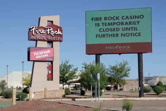 Kasino Fire Rock di dekat Gallup digambarkan pada 18 Mei. Navajo Nation Gaming Enterprise akan menutup kasino-kasino di New Mexico dan Arizona hingga 7 Juni.