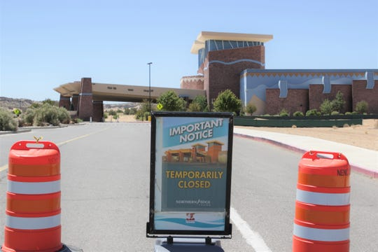 Northern Edge Casino in Upper Fruitland is pictured on May 18. The Navajo Nation Gaming Enterprise will keep its casinos in New Mexico and Arizona closed until July 5.