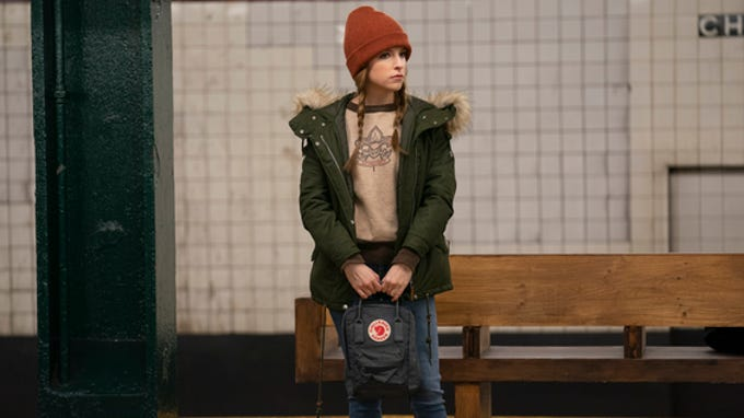 """Anna Kendrick waits for a subway train in """"Love Life."""""""