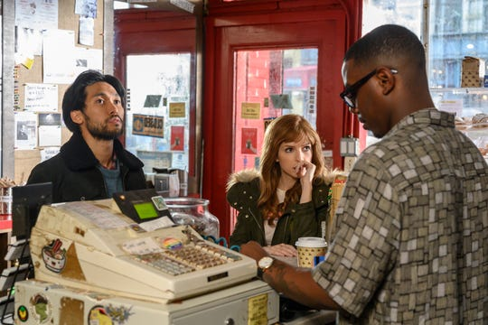 """Jin Ha and Anna Kendrick check out in HBO Max's show """"Love Life."""""""