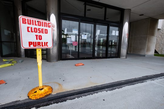 The Municipal Office Center reopened Monday to non-furloughed city employees, but remains closed to the public.