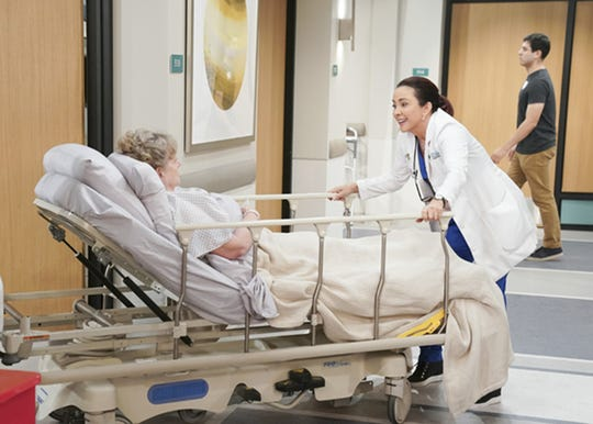 """From left, Carol Mansell as Mrs. Zahn and Patricia Heaton as Carol Kennedy in the CBS series, """"Carol's Second Act."""" The show didn't make the cut for a second season."""