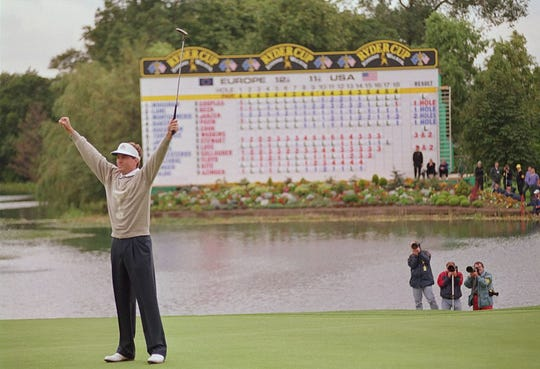 Davis Love III made the putt that ensured the Americans would retain the Ryder Cup in 1993.