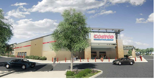 This is a rendering of the Costco store that is planned for south Redding.