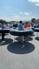 Fish Tales in Ocean City, Md., debuted bumper-style tables developed by Revolution Event Design and Production to keep customers 6 feet apart.