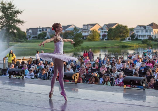 The First State Ballet performs at the Freeman Stage in summer 2018.