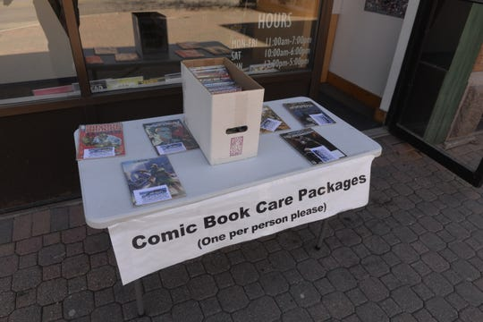 Granite City Comics & Games had a table outside its store providing comic book care packages to individuals who wanted to read while the store was closed. The store opened in-store shopping on Monday, May 18, 2020.