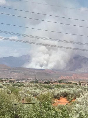 A large blaze dubbed the Anderson Junction Fire broke out just outside of Toquerville on Monday afternoon.