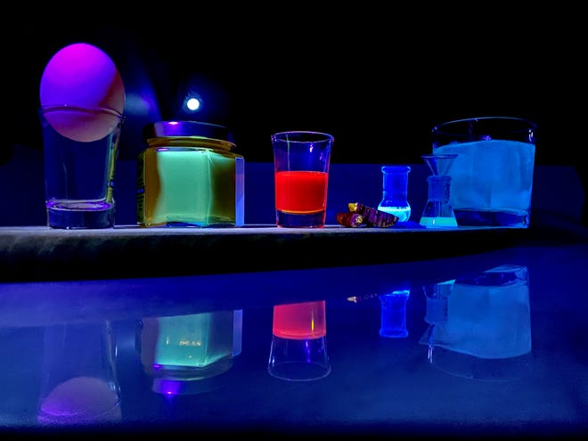 Florida State University Assistant Professor of Chemistry and Biochemistry Lea Nienhaus and graduate student Zachary VanOrman noted there are plenty of everyday household items, specifically in the kitchen, that display varying amounts of fluorescence. These include honey, olive oil and tonic water.