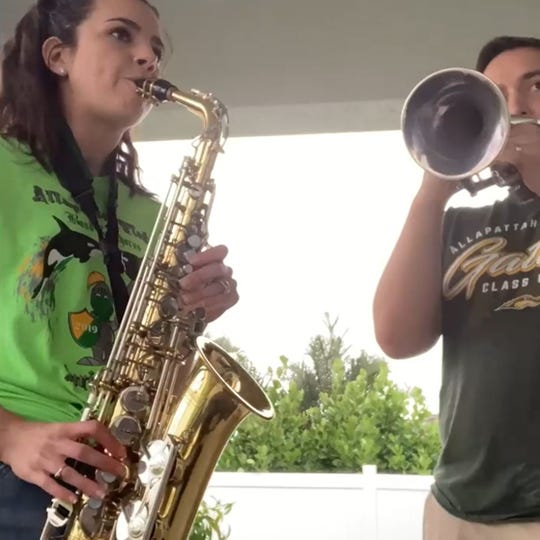 """St. Lucie County students Friday played """"Lean on Me"""" to honor frontline workers and those who have sacrificed as a result of the coronavirus."""