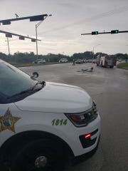 Indian River County Sheriff's Office reported a crash with injuries and roadblocks on U.S. 1 at 37th Street around 4 p.m. Monday May 18, 2020.