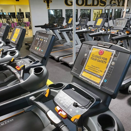 Gold's Gyms is opening on May 25, 2020, with new guidelines to maintain the safety of its patrons. One rule is blocking off every other exercise machine to maintain social distancing.