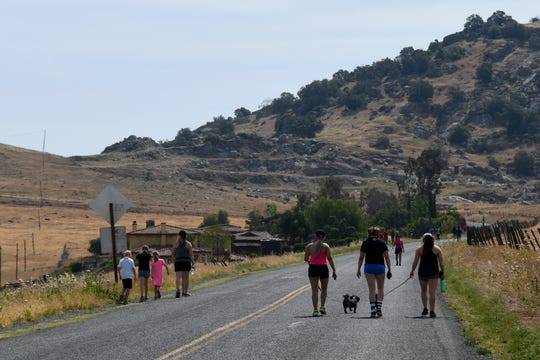 Walkers, runners and bikers enjoy Rocky Hill Drive over the weekend of May 16-17, 2020. The Tulare County Sheriff's Department recently reminded people to avoid parking on private property in the area.