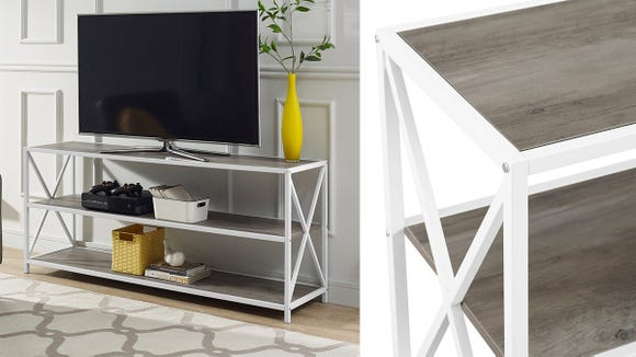 Finally—a TV stand that combines style and functionality.