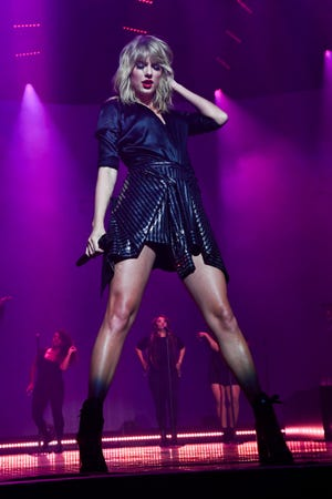 """Taylor Swift performs during her """"City of Lover Concert."""""""