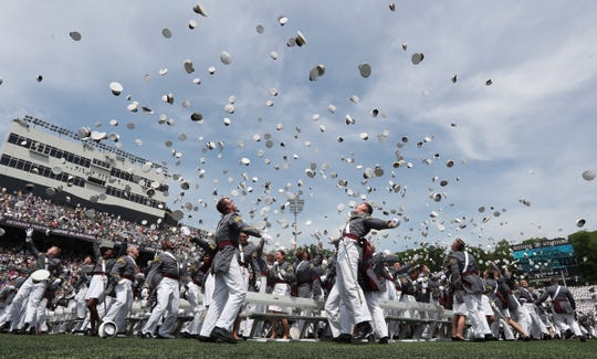 West Point graduation and commissioning ceremony on May 26, 2018 in West Point, New York.