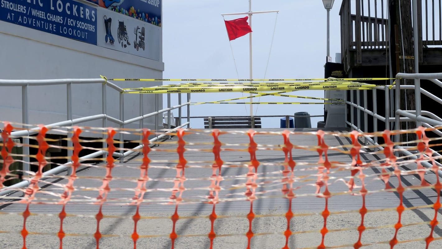 Point Pleasant Beach Boardwalk Closed