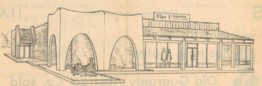 An artist's sketch of the Pier 1 Imports store in the 2300 block of South Danville Drive which ran in the Reporter-News on Sept. 21, 1978.