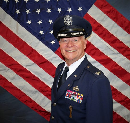 Col. Steve Shinkle (USAF, ret.) was photographed at the JROTC cadet picture day in February at Cooper High School. where he began teaching in 2009. Shinkle is retiring from education.