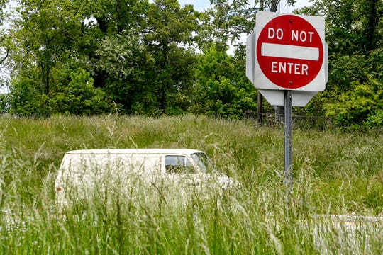 The N.C. DOT plans to mow three cycles this year starting on June 1, instead of the normal five-six. A budget shortfall related to the coronavirus pandemic is to blame. This West Asheville exit had waist-high grass on May 13, 2020.