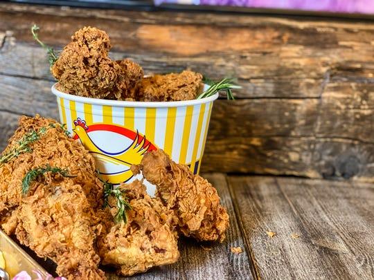 B!+(#!N Fried Chicken in Downtown Binghamton serves up 2-8 piece buckets of chicken.