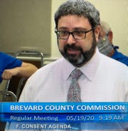 Brevard County Housing and Human Services Director Ian Golden details the housing assistance program proposal to county commissioners.