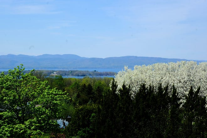 The view toward the Lake Champlain and the Adirondacks from Overlook Park in South Burlington on Monday, May 18, 2020.