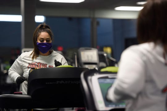 Landshark Fitness reopens, Monday, May 18, 2020, in Calallen. Gyms across the state reopened as part of Texas Gov. Greg Abbott's business plan.