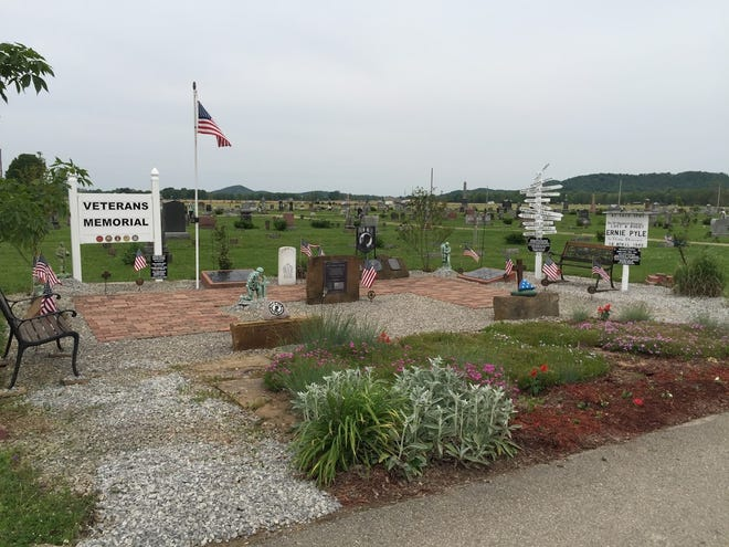 A photo of the Londonderry Cemetery featuring the newest veteran monument additions. The Scioto Valley Honor Guard started its efforts in 2013 and continues to this day.