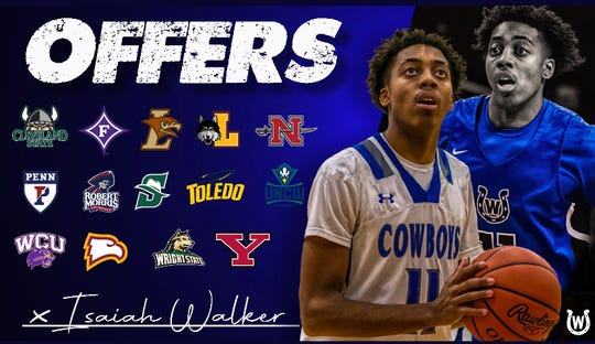 Wyoming's Isaiah Walker holds 14 scholarship offers.