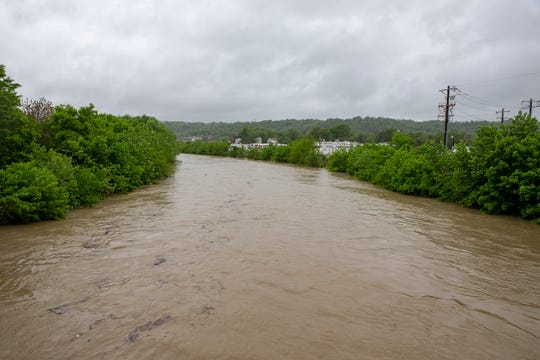 The Mill Creek along Spring Grove Avenue Tuesday. Photo shot Tuesday May 19, 2020.