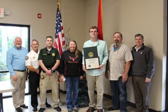 Former Montgomery County Sheriff's Office Explorer Garrett Rye was recognized for his heroic actions when he assisted Stewart County Sheriff Frankie Gray with an arrest.