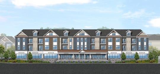 An architectural rendering of Hillsborough Village Center.