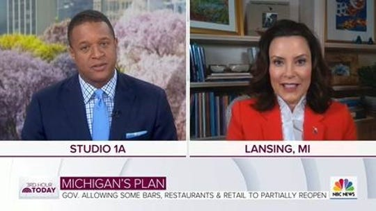 "Gov. Gretchen Whitmer joined the ""3rd Hour of Today"" to discuss Michigan's reopening plan and also spoke to Craig Melvin about the search for a running mate for Joe Biden."