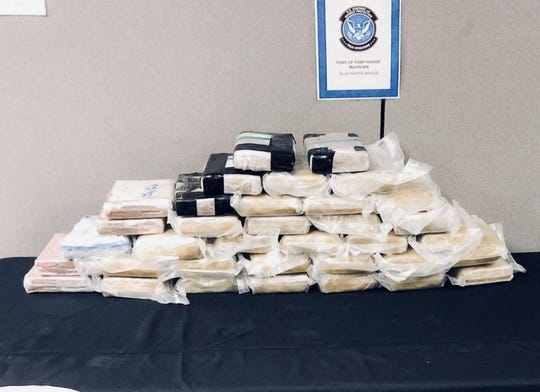 Dope on the table: Customs seized 12 pounds of Fentanyl, a potent opioid, and 12 pounds of cocaine, along with nearly 1.5 tons of pot, since March 21.