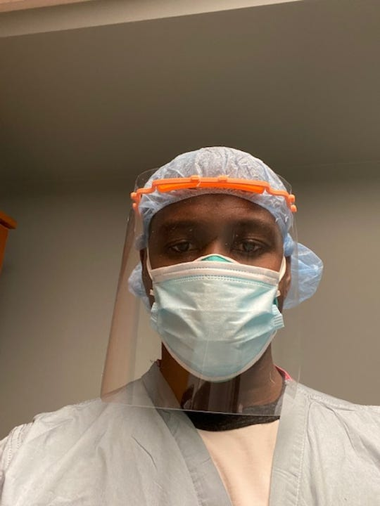 Former MSU safety Sorie Kanu, who tested positive for COVID-19 and had to be isolated from his family, works as a nurse practitioner at Beaumont Hospital in Royal Oak.