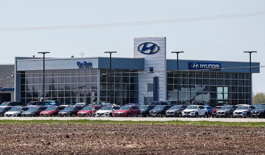 Van Horn Hyundai on Highway 23 and Esterbrook Road near Fond du Lac, Wis. Friday, May 15, 2020.  Car dealerships like Van Horn have had to make several adjustments to navigate the COVID-19 pandemic.