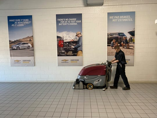 "Bergstrom Automotive shut down each of its facilities during the pandemic and during the dealership's tradition of making their facilities ""Race Shop Clean,"" heavily cleaned each."