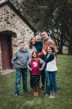 The Kulczewski family. Pictured from left is Trent Kulczewski, Michelle Kulczewski, Matea Kulczewski, Malix Kalczewski, Tom Kulczewski, and Lydia Kulczewski.