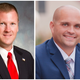 Chad McBride (left) and Brandon Surratt are running for Anderson County Sheriff primary, June 9.