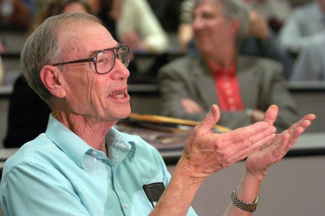 University of Southern Mississippi Professor Emeritus William Scarborough is pictured at the university in Hattiesburg in this Friday, March 5, 2004, file photo.