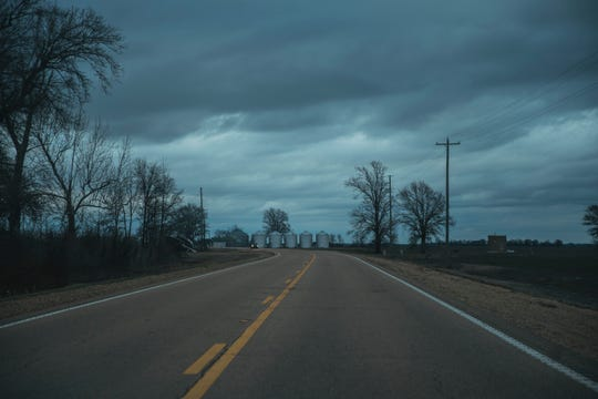 A highway in the Mississippi Delta.