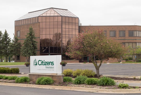 Citizens Insurance in Howell, shown Tuesday, April 19, 2020.