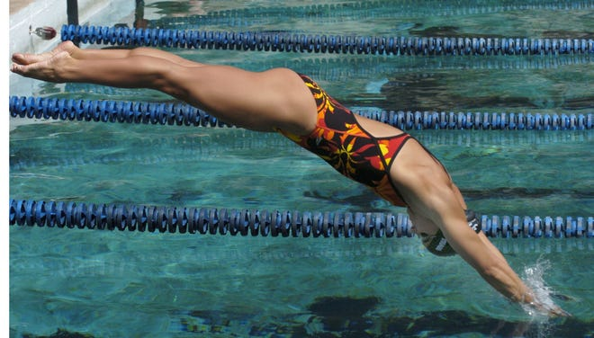 Rachel Komisarz trained at Lakeside on June 28, 2004 for a shot at the Olympic Games.