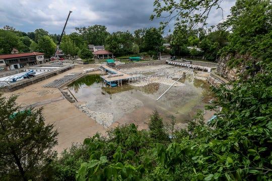 An empty Lakeside Swim Club.May 19, 2020
