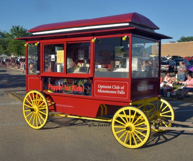 The popular popcorn wagon, which benefits the Optimist Club of Menomonee Falls, will return May 31, in the Piggly Wiggly parking lot,N81W15182 Appleton Ave.