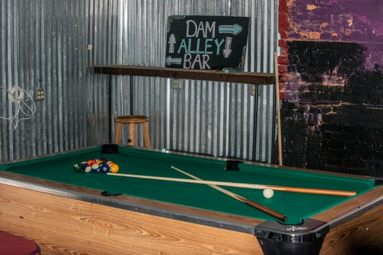 The smoke-free pool table room inside KimberLia's in downtown Prattville.
