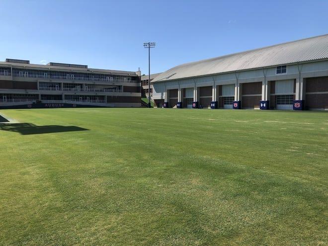 The Auburn football team's outdoor practice field.