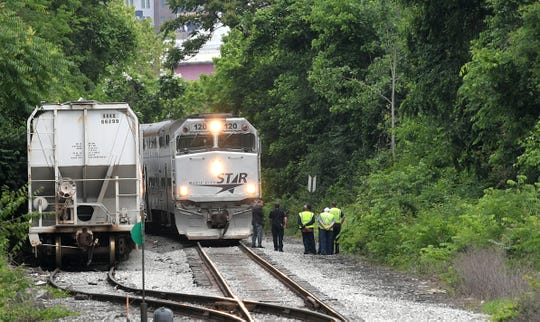 A person was struck by an outbound WeGo Star train, formerly the Music City Star, while on the railroad  tracks near downtown Nashville at Anthes Drive Tuesday, May 19, 2020.